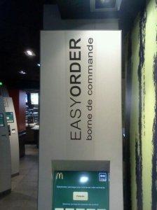 Restaurant McDonald's, Levallois-Perret, France, Octobre 2012. Photo prise par l'auteur pour sa collection personnelle.